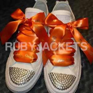 Orange Personalised Laces Wedding Converse