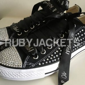 Black Crystal & Pearl Scatter Converse